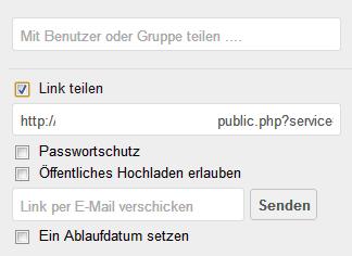 So teilt man in der Owncloud Dateien.