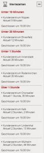 Wartezeiten im Kundenzenter bei der Stadt Köln auf www.stadt.koeln