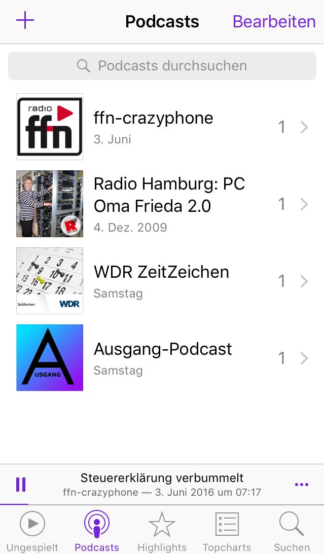Podcast-Apps für iOS