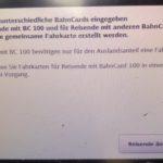 Rabatt mit der BahnCard100 bei Fahrten ins Ausland