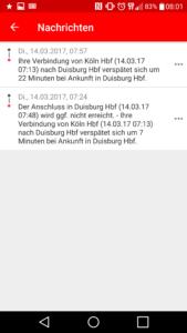 So sehen Störungsmeldungen des Streckenagenten der Deutschen Bahn aus.