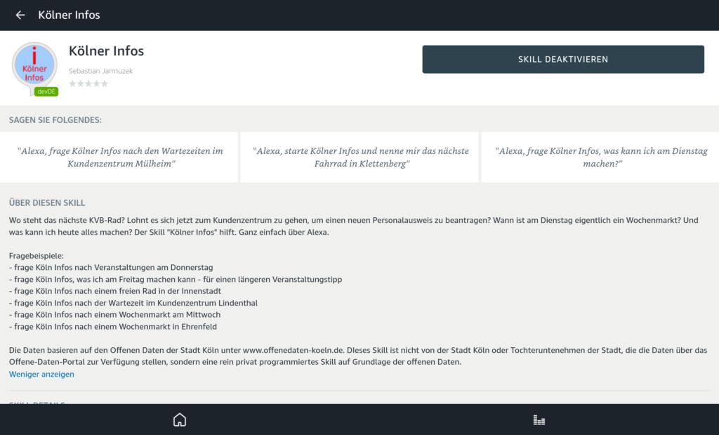 Amazon Alexa-Skill: Kölner Infos