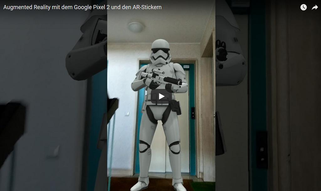 Augmented Reality in der Foto-App von Google