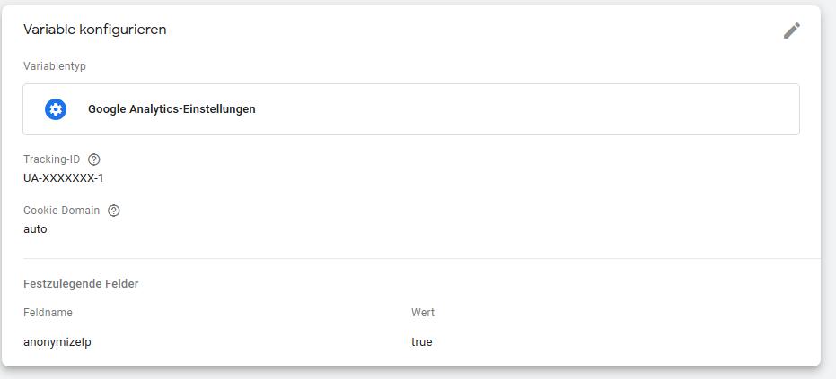 Google Analytics Einstellungen im Google Tag Manager