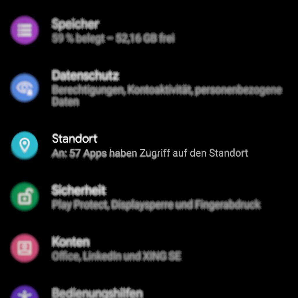 Standorteinstellungen unter Android