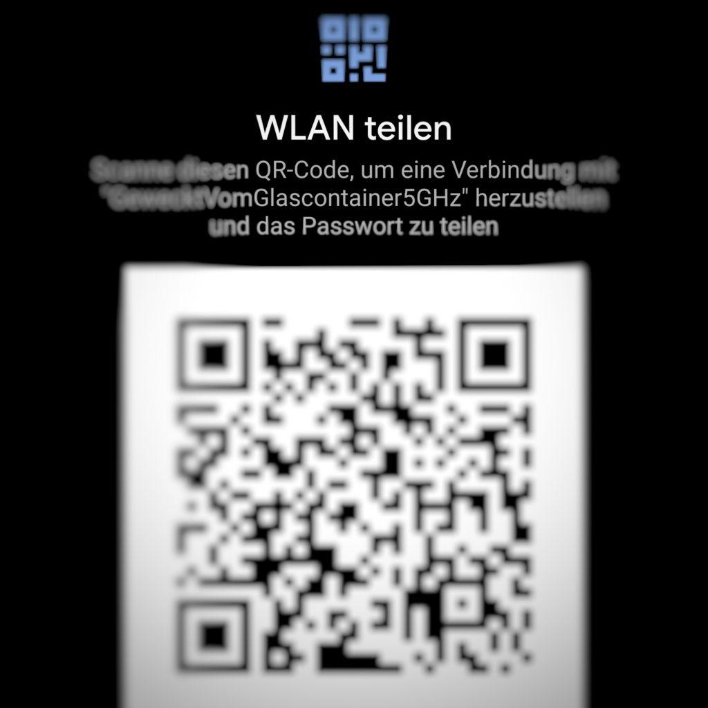 Android 10: QR-Code zum WLAN wird angezeigt.